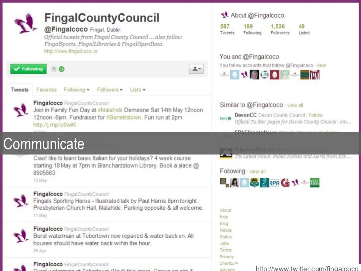 Communicate http://www.twitter.com/fingalcoco