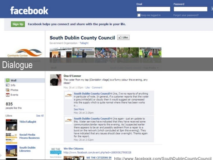 Dialogue http://www.facebook.com/SouthDublinCountyCouncil