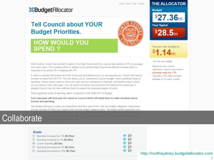 http:// northsydney.budgetallocator.com / Collaborate