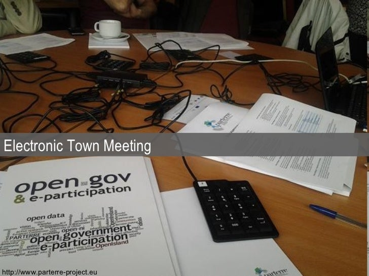 Electronic Town Meeting http://www.parterre-project.eu