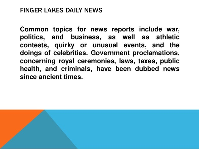 finger lakes daily news