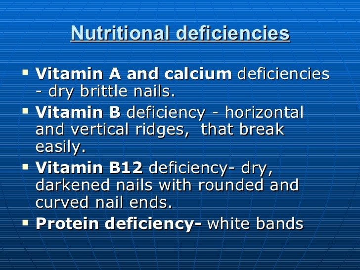 Fingernails And What They Reveal 1 B12 Deficiency Nails