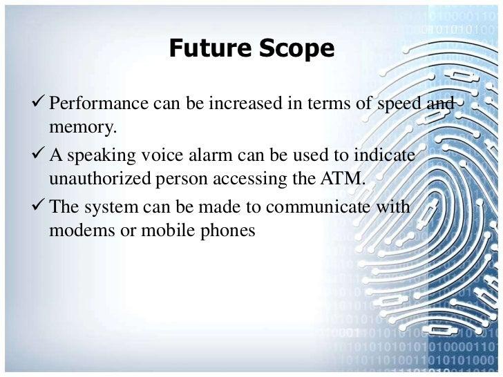 Fingerprint based security system ppt