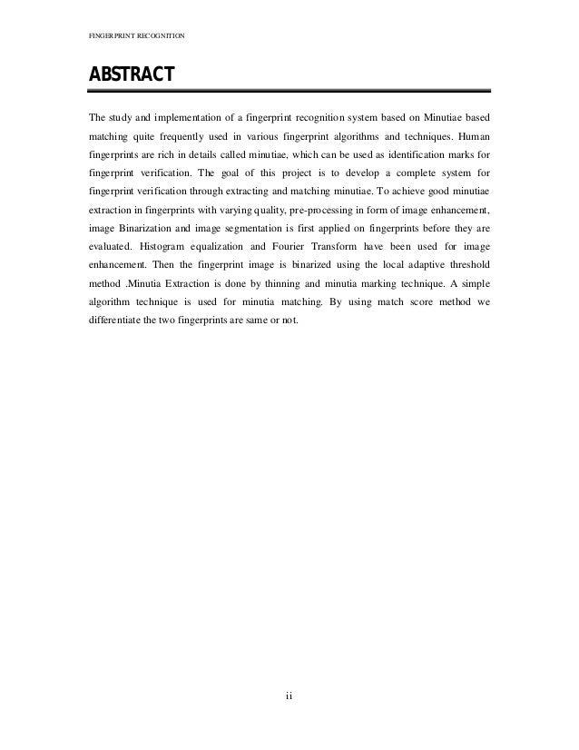 Fingerprint Recognition Technique(PDF)