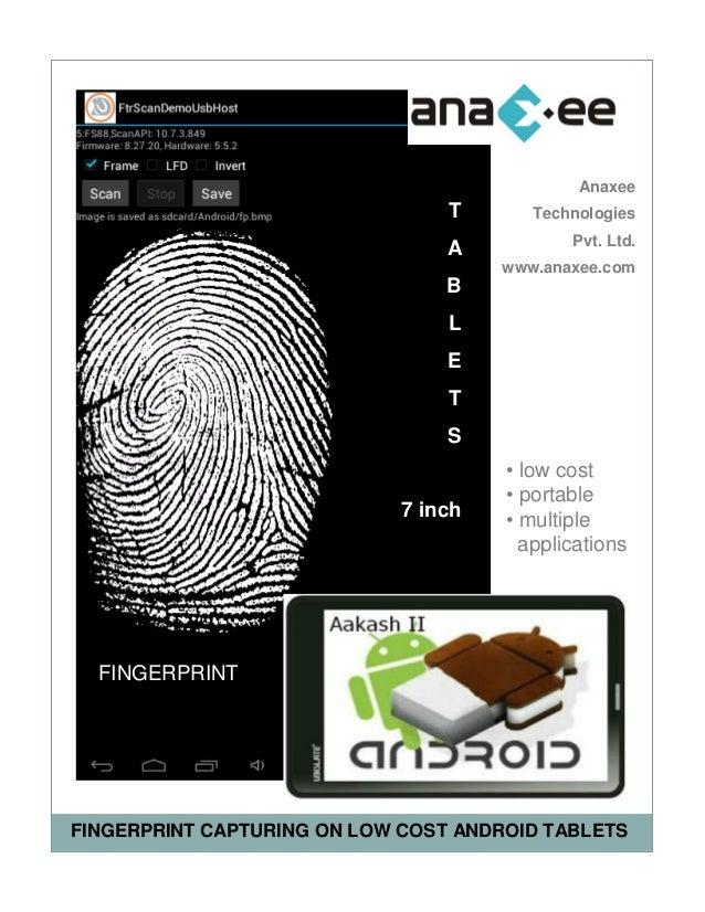 Fingerprint Capturing & Processing on Android Tablet