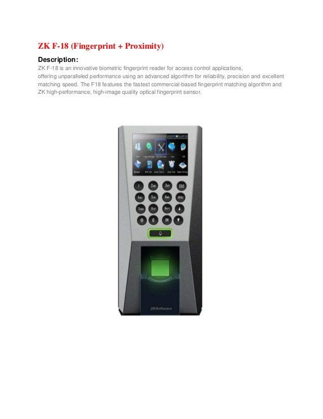 Fingerprint access control quotation bangladesh