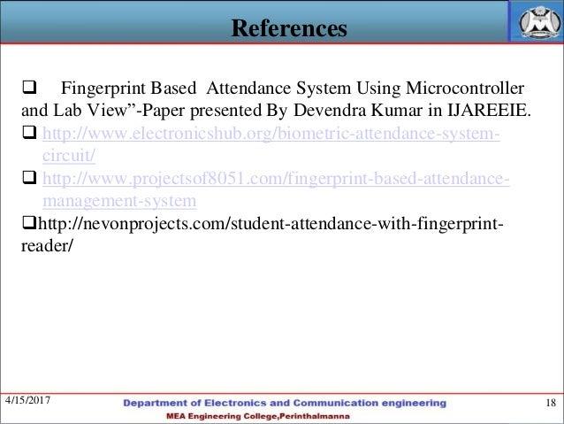 Finger Print Based Time Attendance System - Fingerprint