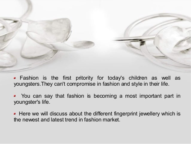 Fingerprint jewellery   a precious ornaments collection for loved ones Slide 2