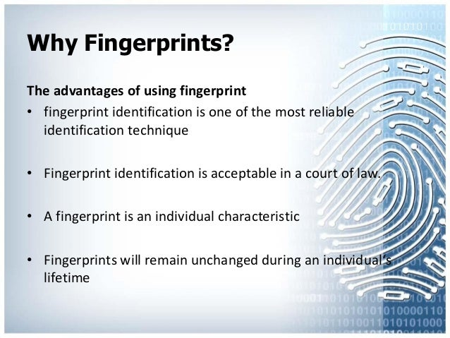 fingerprint thesis statement Contribution to the success of this thesis 32 the collection of latent prints from documents 39 the statement of purpose indicates the.