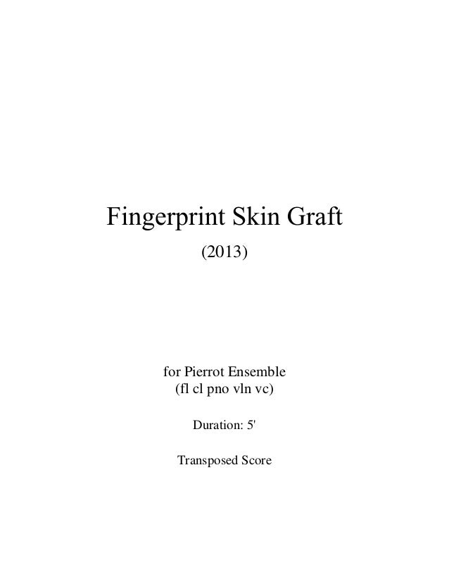 (2013) for Pierrot Ensemble (fl cl pno vln vc) Duration: 5' Transposed Score