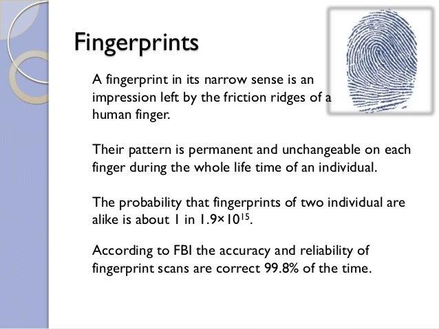 Fingerprints recognition Slide 2