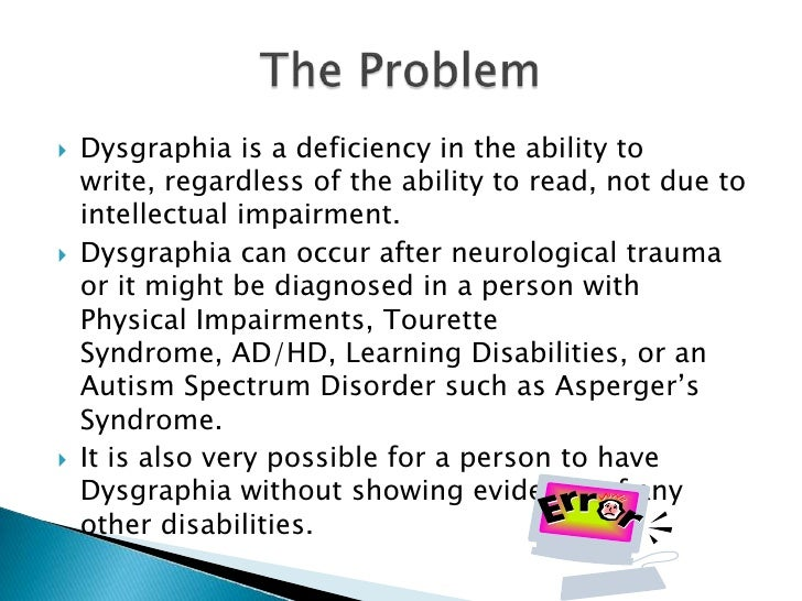 spatial dysgraphia
