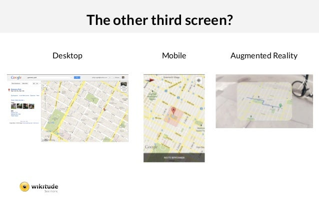The other third screen?Desktop               Mobile    Augmented Reality