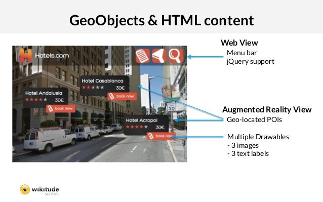GeoObjects & HTML content                     Web View                      Menu bar                      jQuery support  ...
