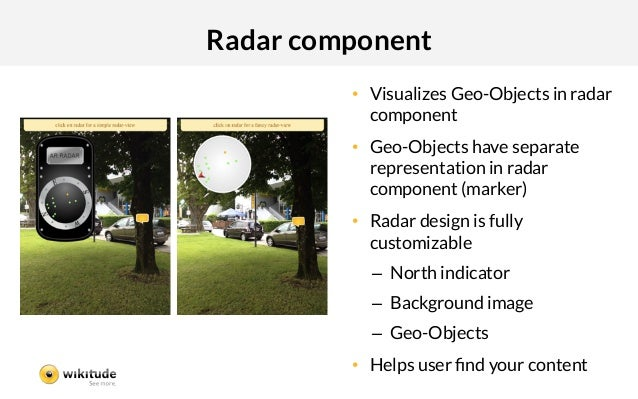 Radar component          • Visualizes Geo-Objects in radar             component          • Geo-Objects have separate   ...