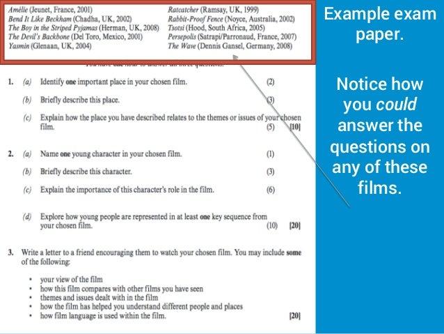 wjec as film studies coursework