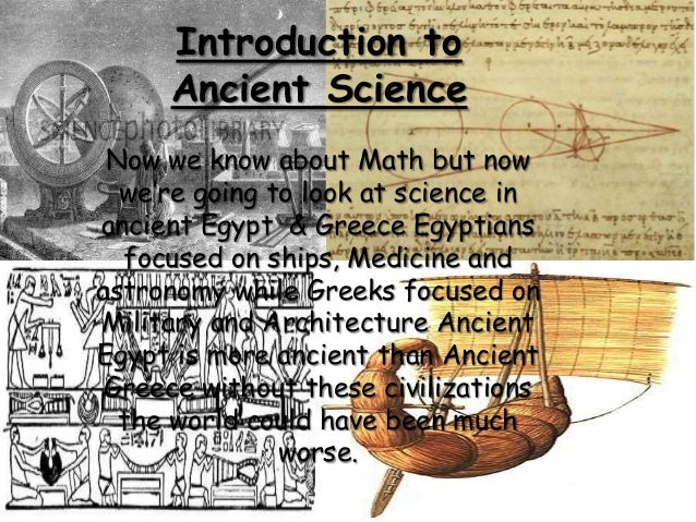Math & Science of Ancient Greece and Egypt
