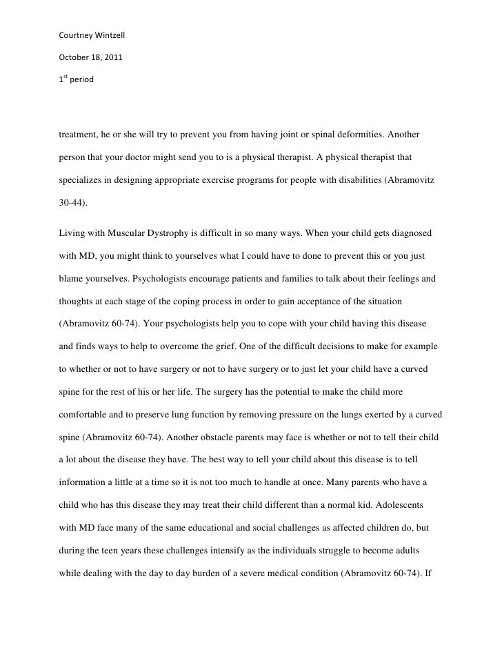 how to write a research paper on a disease