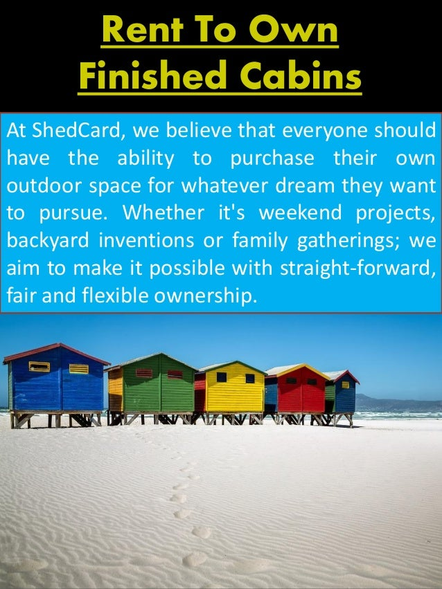 Rent To Own Cabins Near Me