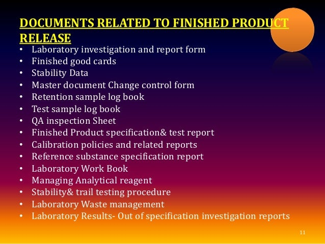 Finished Product Release Quality Review Quality Audit