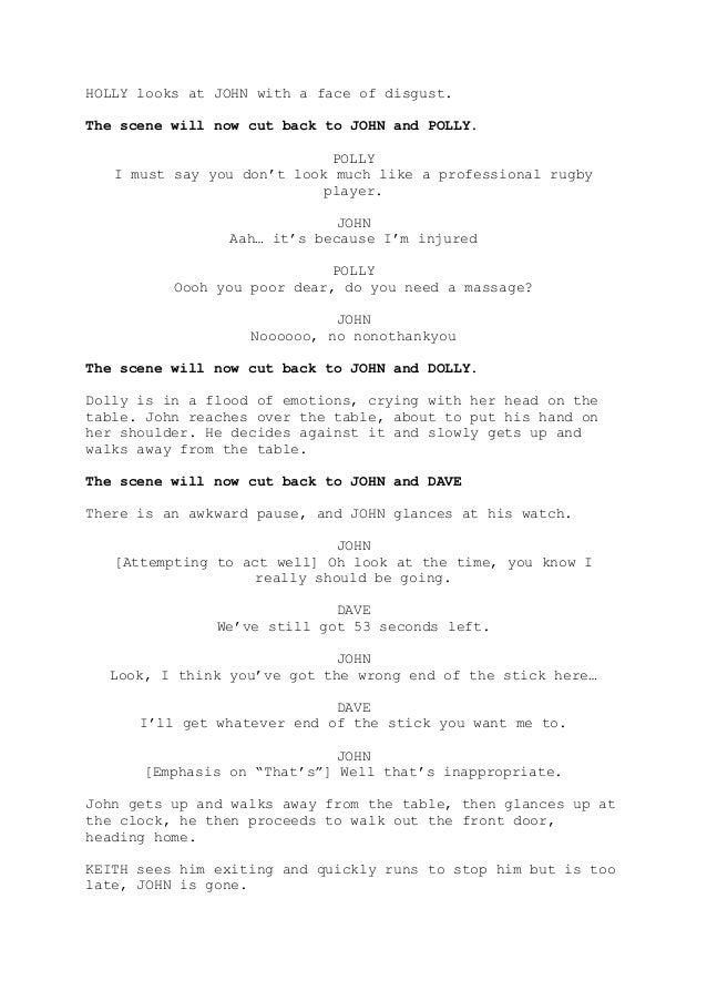Fast Love - Comedy Short Film Script