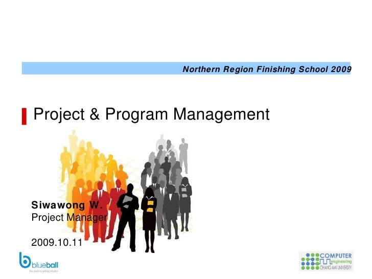 Project  & Program Management Siwawong W. Project Manager 2009.10.11