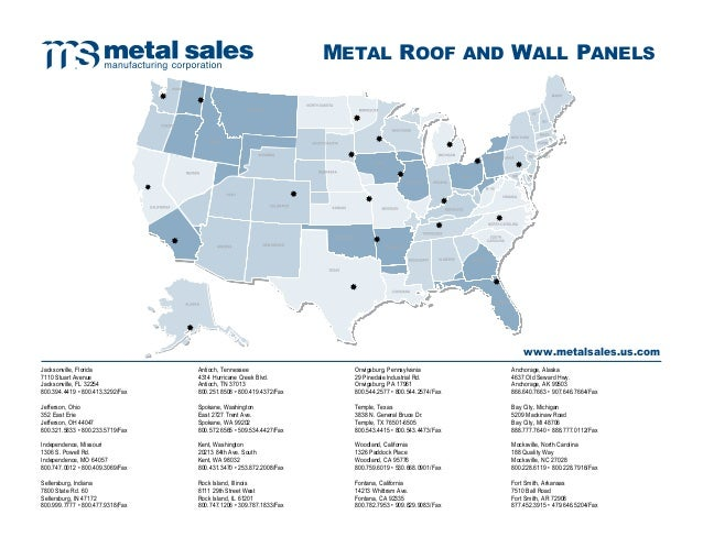 Metal Sales Finishing Touch Line Siding And Roofing