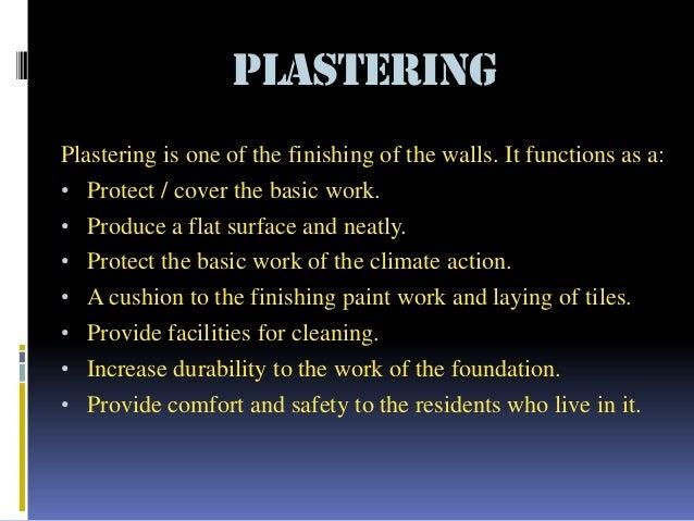 Finishing works (Building Construction) Slide 3