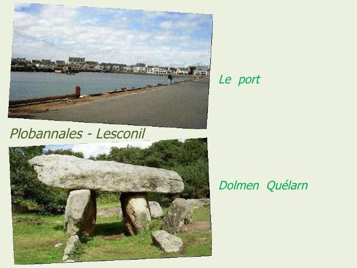 Le  port  Dolmen  Quélarn Plobannales - Lesconil
