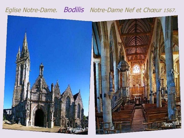 Eglise Notre-Dame.  Bodilis  Notre-Dame Nef et Chœur  1567.