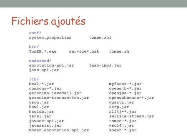Fichiers supprimés•   lib/annotations-api.jar    •   Non-compliance, remplacé par endorsed/annotations-api.jar•   lib/el-a...