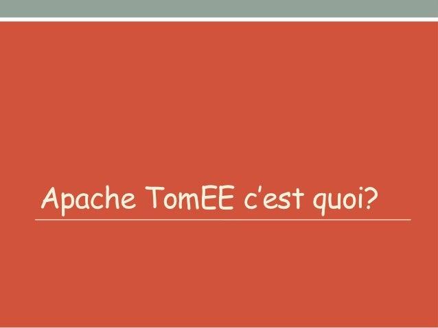 2011        JEE 6 Web ProfilesmallTomcat + « EE »             certified                         Apache stack