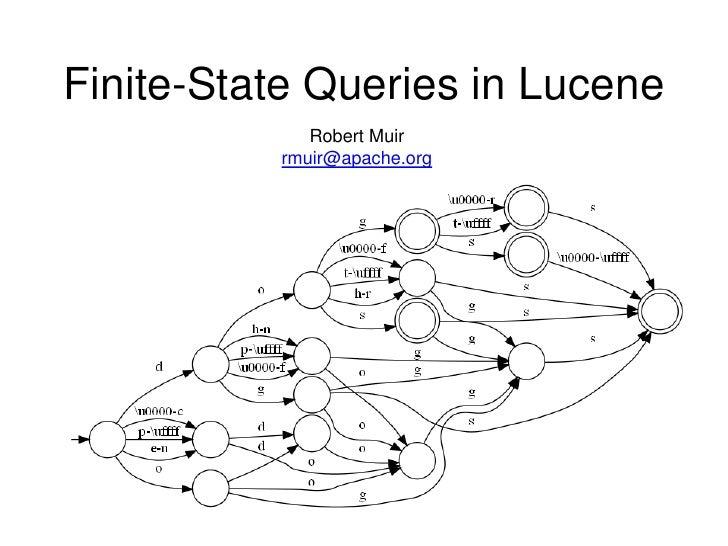 Finite-State Queries in Lucene              Robert Muir           rmuir@apache.org