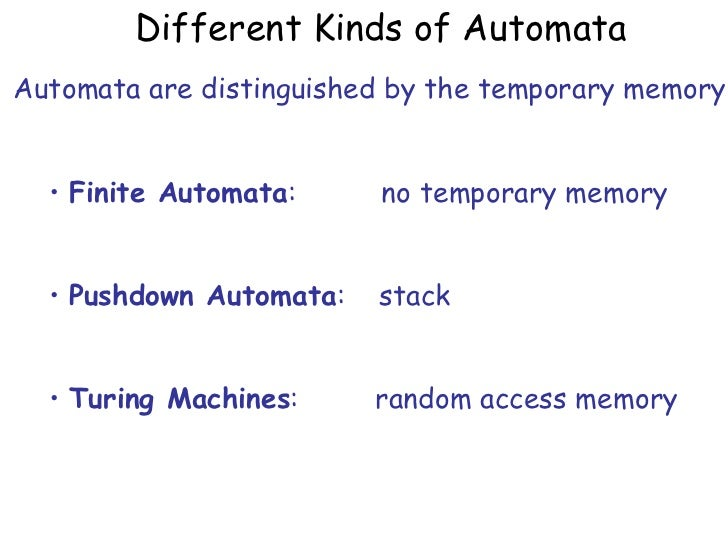 Church turing thesis in automata