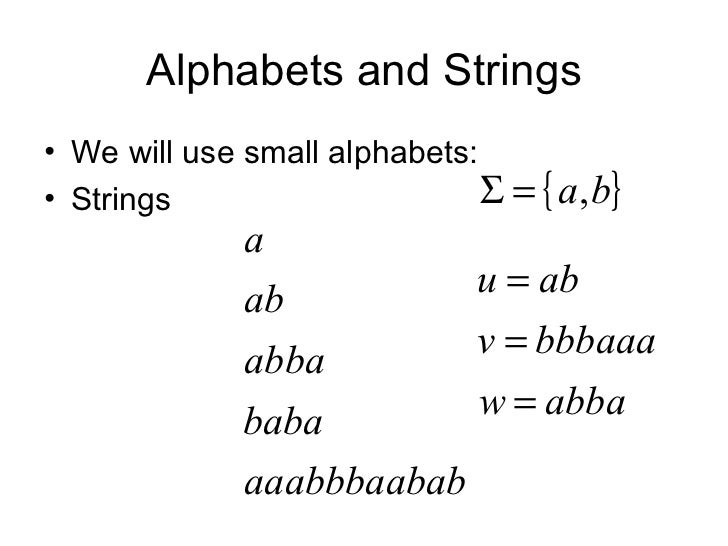 how to reverse strings over a language example set theory