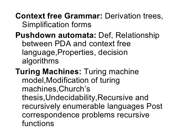 Church turing thesis in automata rotten