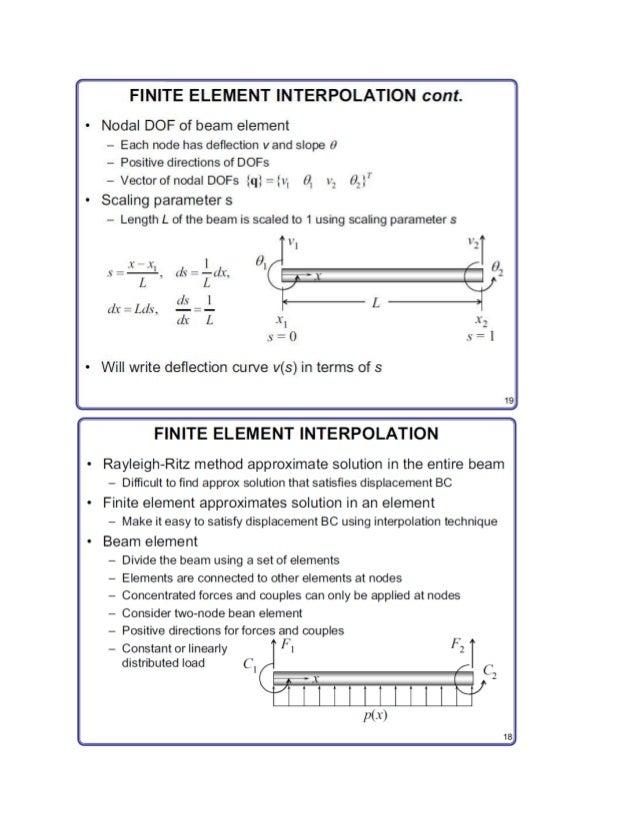 Finite element formulation for beams