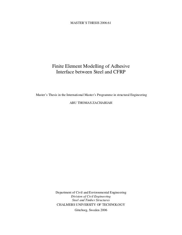 finite element master thesis A thesis entitled finite element study of a shape memory alloy bone implant by ahmadreza eshghinejad submitted to the graduate faculty as partial fulfillment for the requirements of the master of science degree in mechanical engineering _____ dr mohammad h elahinia, committee chair.