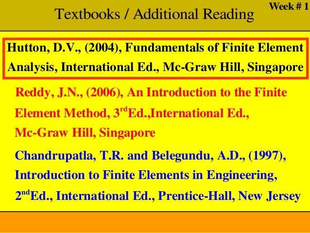 Solutions manual Introduction to finite elements in engineering (Book )