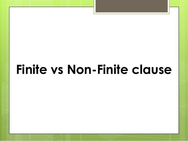 Finite vs Non-Finite clause