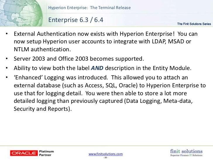 Finit Solutions Hyperion Enterprise Final Release