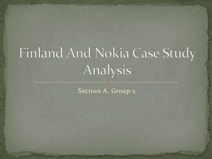nokia case study analysis Nokia case study analysis - free download as word doc (doc / docx), pdf file (pdf), text file (txt) or read online for free.