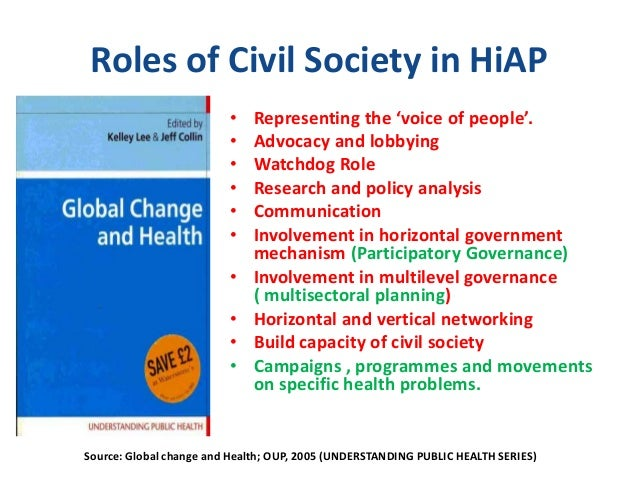 functions of civil society groups