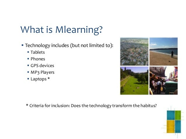 mLearning : Habitus and Field Activities Slide 3