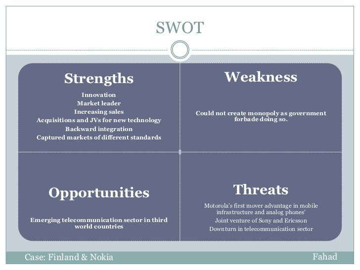 "motorola mobility swot Motorola swot analysis ""swot is an acronym for the internal strengths and weaknesses of a firm and the environmental opportunities and threats facing that firm swot analysis is a widely."