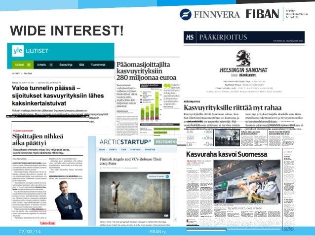 Finnish business angel activity 2013 - Finnish Business Angels Network (FiBAN) Slide 2