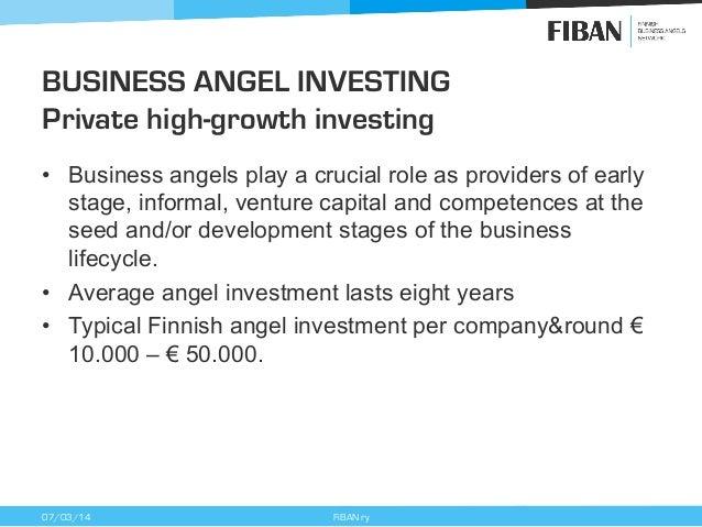 Finnish business angel activity 2013 - Finnish Business Angels Network (FiBAN) Slide 3
