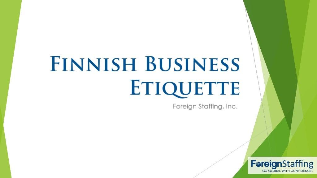 Finnish Business Etiquette