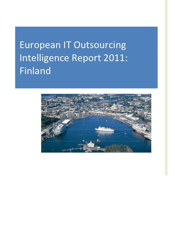 IT Sourcing EuropeEuropean IT Outsourcing     European IT Outsourcing Market                                      Intellig...