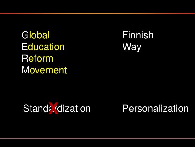 Reforming School is a complex & slow process. To rush this process is to ruin it. The story of Finland's education transfo...